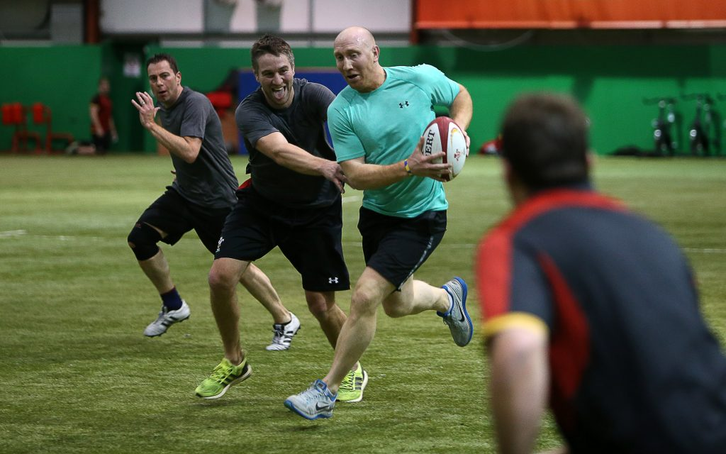 18.02.16 - WRU - Sponsors Touch Rugby - Tom Shanklin.