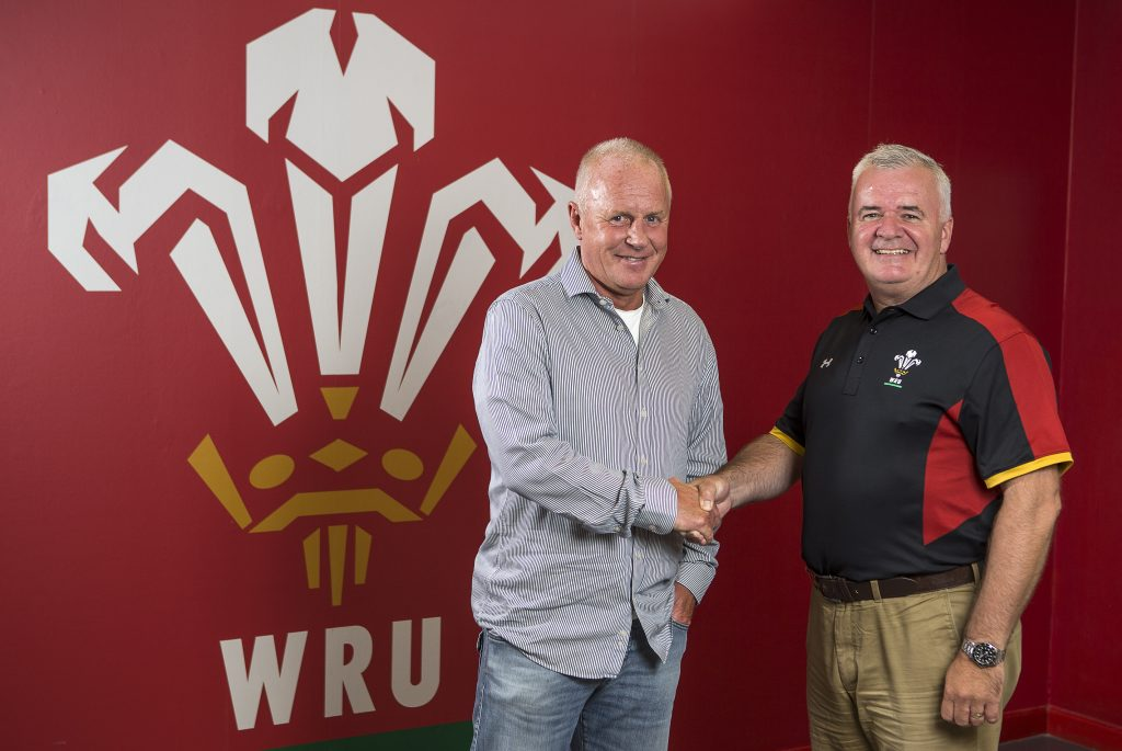 04.08.16 - WRU - Picture shows Paul Turner and Gareth Davies of WRU Exiles.